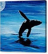 Blue Moon II - Right Side - Acrylic Canvas Print