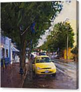 Blue Moon On A Rainy Day Canvas Print