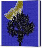 Blue Moon Over Palmetto  Canvas Print