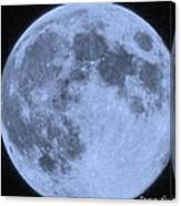 Blue Moon Up Close And Personal Canvas Print