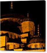 Blue Mosque At Night 02 Canvas Print