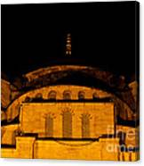 Blue Mosque At Night 03 Canvas Print
