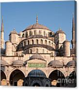Blue Mosque Domes 01 Canvas Print