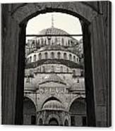 Blue Mosque Entrance Canvas Print