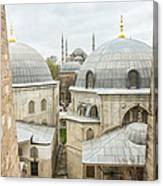 Blue Mosque View From Hagia Sophia Canvas Print