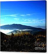 Blue Mountain Landscape Umbria Italy Canvas Print