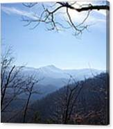 Blue Mountain Sky Canvas Print