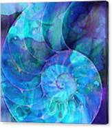 Blue Nautilus Shell By Sharon Cummings Canvas Print