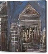 Blue Night Close Up 6 Canvas Print