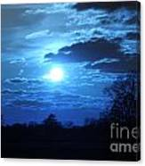 Blue Night Light Canvas Print