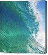 Blue Ocean Wave, View From In The Water Canvas Print