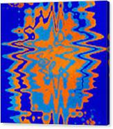 Blue Orange Abstract Canvas Print
