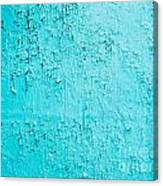 Blue Paint Background Grungy Cracked And Chipping Canvas Print