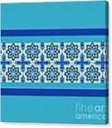 Blue Patchwork 2 Canvas Print