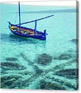 Blue Peace. Maldives Canvas Print