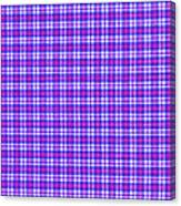 Blue Pink And White Plaid Cloth Background Canvas Print