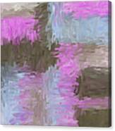 Blue Pink Brown Abstract Canvas Print