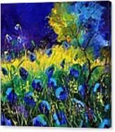 Blue poppies 7741 Canvas Print