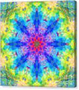 Blue Rainbow Star Mandala Canvas Print