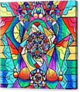 Blue Ray Transcendence Grid Canvas Print