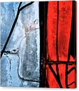 Blue Red And Blue Canvas Print
