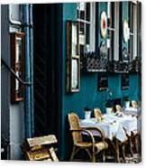 Blue Restaurant Canvas Print