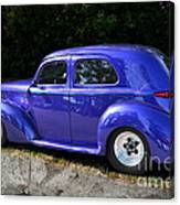 Blue Restored Willy Car Canvas Print
