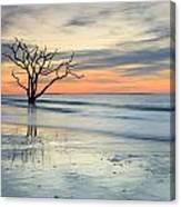 Blue Reverence Charleston Sc Ocean Sunrise Canvas Print