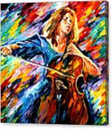 Blue Rhapsody - Palette Knife Oil Painting On Canvas By Leonid Afremov Canvas Print