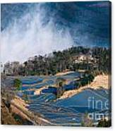 Blue Rice Terrace Canvas Print