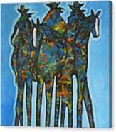 Blue Riders Canvas Print