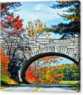 Blue Ridge Autumn Bridge Canvas Print
