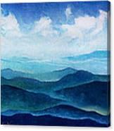Blue Ridge Blue Skyline Sheep Cloud Canvas Print