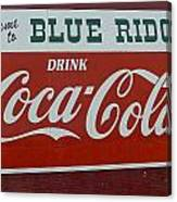 Blue Ridge Coca Cola Sign Canvas Print