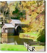 Blue Ridge Grist Mill Canvas Print