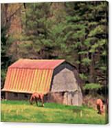 Blue Ridge Horses Canvas Print