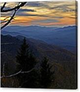 Blue Ridge Last Light Canvas Print