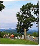 Blue Ridge Mountain Cemetery Canvas Print