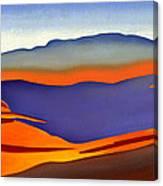 Blue Ridge Mountains East Fall Art Abstract Canvas Print