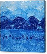 Blue Ridge Original Painting Canvas Print