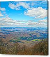 Blue Ridge Parkway Beautiful View Canvas Print