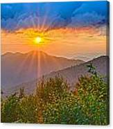 Blue Ridge Parkway Late Summer Appalachian Mountains Sunset West Canvas Print