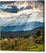 Blue Ridge Parkway North Carolina Mountains Gods Country Canvas Print