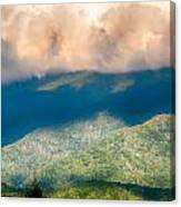 Blue Ridge Parkway Scenic Mountains Overlook Summer Landscape Canvas Print