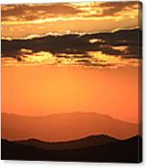 Blue Ridge Parkway Sunset-north Carolina Canvas Print