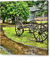 Blue Ridge Parkway Vintage Wagon In The Rain I Canvas Print
