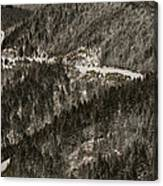 Blue Ridge Parkway With Snow - Aerial Photo Canvas Print