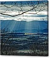 Blue Ridge Winter Solstice 2012 Canvas Print