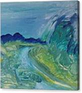 Blue River Landscape I, 1988 Oil On Canvas Canvas Print
