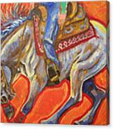 Blue Roan Reining Horse Spin Canvas Print